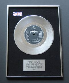 DAVID BOWIE - Never Let Me Down PLATINUM Single Presentation DISC